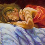 Child Sleeping Print Wall Art Room Decor Poster