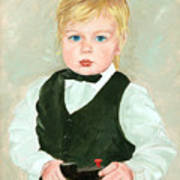 Child With A Toy Poster by Ethel Vrana