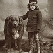 Child With Dog, C1885 Poster