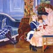 Children Afternoon At Wargemont Marguerite 1884 Poster