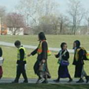 Children Crossing Poster