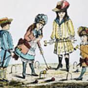 Children Playing Croquet Poster by Granger