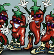 Chili Peppers Gang Poster