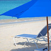 Chilling On The Beach Anguilla Caribbean Poster