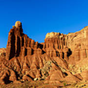 Chimney Rock At Capitol Reef Poster