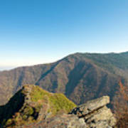 Chimney Tops Vista In Great Smoky Mountain National Park Tennessee Poster by Brendan Reals
