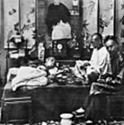 China: Opium Smokers Poster