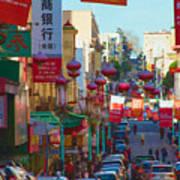 Chinatown Street Scene Poster