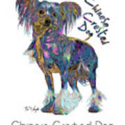 Chinese Crested Dog Pop Art Poster