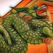 Chinese Dragon Art Poster