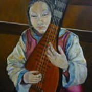 Chinese Lute Player Poster