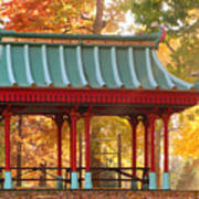 Chinese Pavillion In Tower Grove Park Poster