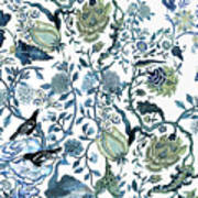 Chinoiserie Blue Poster