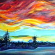 Chinook Arch Over Bow River Poster