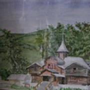 Chirch Near Gorno-altaisk  Poster