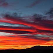Chiricahua Mountain Sunset Poster