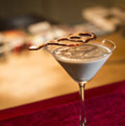 Chocolate And Cream Martini Cocktail Poster