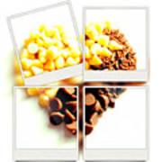 Chocolate Heart Mosaic Poster