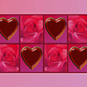 Chocolate Hearts And Roses Poster