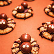 Chocolate Peanut Butter Spider Cookies Poster