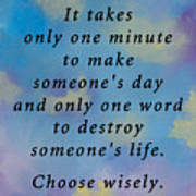 Choose Wisely Poster