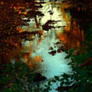 Chris' Creek Autumn Sunset Poster