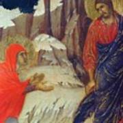 Christ Appearing To Mary Magdalene Fragment 1311 Poster
