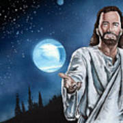 Christ At Night Poster