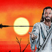Christ At Sunrise Poster