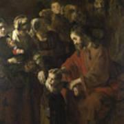 Christ Blessing The Children Poster