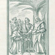 Christ Consigning The Keys To Saint Peter Poster