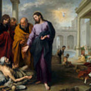 Christ Healing At Pool Of Bethesda Poster