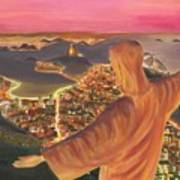 Christ Over Rio Poster