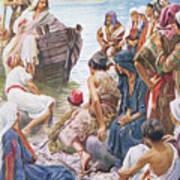 Christ Preaching From The Boat Poster