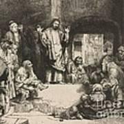 Christ Preaching (la Petite Tombe) Poster