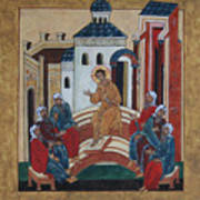 Christ Teaching In The Temple Poster