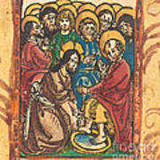 Christ Washing The Feet Of The Apostles Poster