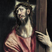 Christ With The Cross Poster