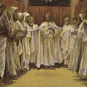 Christ With The Twelve Apostles Poster