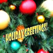 Christmas Balls  Holiday Greetings Poster