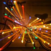 Christmas Bike Abstract Poster