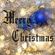 Christmas Card Design Merry Christmas Poster by Karen Musick