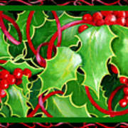 Christmas Holly And Berries Poster