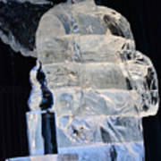 Christmas Ice Sculpture Angel Poster