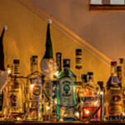 Christmas Lights And Bottles 4197t Poster