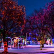 Christmas Lights At Locomotive Park Poster