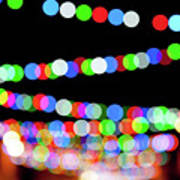 Christmas Lights Bokeh Blur Poster