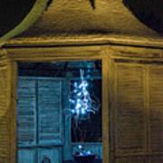 Christmas Lights In Gazebo Poster