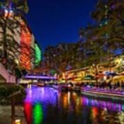 Christmas Lights On The Riverwalk 2 Poster