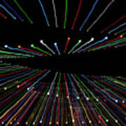 Christmas Lights Zoom Blur Poster